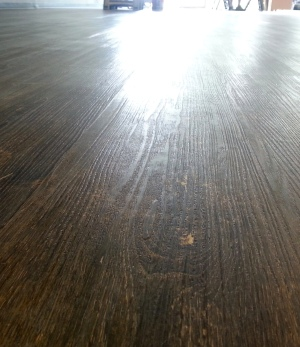 Finished laminate wood floor