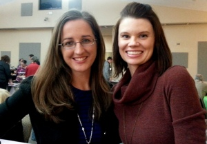 With Ashley Jones of BigSisterKnows.com at the Florida Christian Writer's Conference
